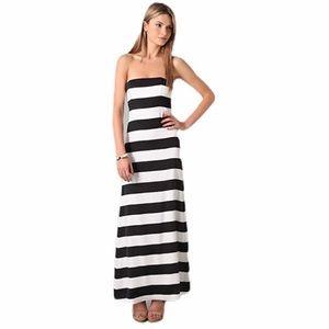 Alice + Olivia Black and White Chandra Maxi Dress